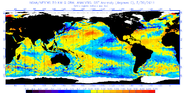 current operational SST anomaly charts 2011