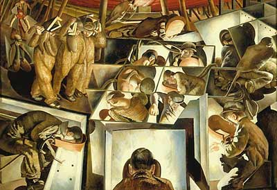 'Shipbuilding on the Clyde' by Sir Stanley Spencer