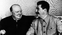 stalin and churchill meet in moscow