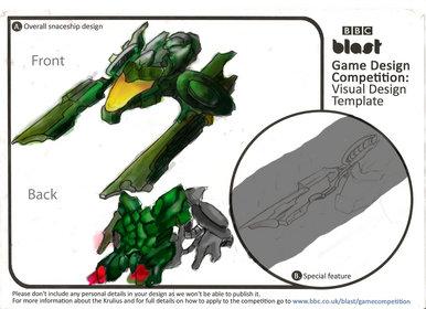 BBC Blast Art Design Spaceship Design Game Design Competition - Spaceship design game