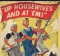 Poster encouraging women to save more scrap and waste - 'Up housewives and at 'em!'.