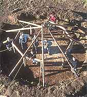 The framework of the house at Howick