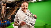 Limmy with clapperboard
