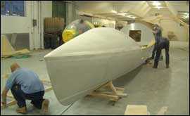 The Commando Joe boat being built
