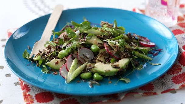 Bbc bbc food blog the vegetarian in the family how to satisfy wild rice salad with avocado and radish forumfinder Choice Image