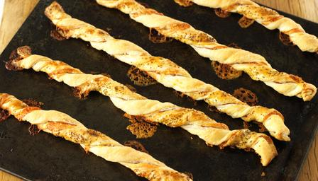 Hairy Biker's Jumbo cheese and ham straws
