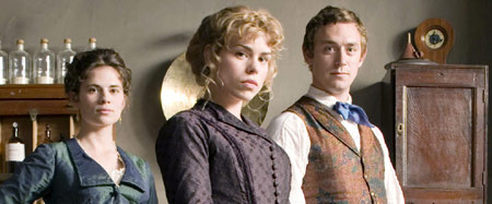 Hayley Atwell as Rosa, Billie Piper as Sally Lockhart and JJ Field as Frederick