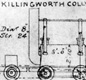 A sketch of George Stephenson's Rocket, the first steam powered locomotive.