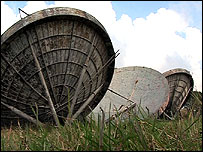 Radar dishes at RAF Stenigot
