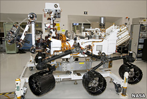 MSL is big: It weighs about 900kg