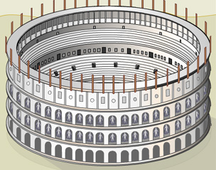 BBC - History - The Colosseum: Building the Arena of Death