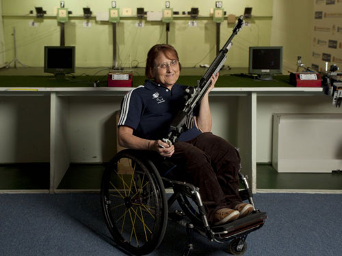 GB Paralympic shooter Di Coates