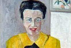 Portrait of Simone de Beauvoir by Helene de Beauvoir reproduced by kind permission of Claudine Monteil
