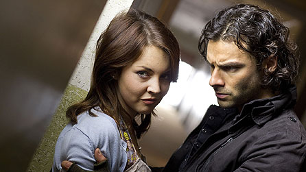 Lacey Turner as Lia and Aidan Turner as Mitchell