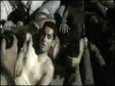 User generated footage showed the events of 15 June 2009 when Tehran University students were dragged from their dormitory beds and beaten by plain-clothed militia and police.
