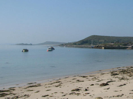 A hazy morning on the Isles of Scilly