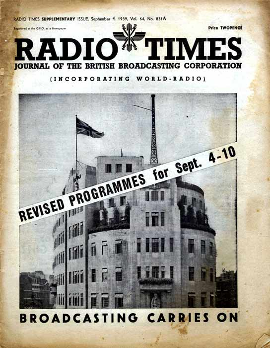 'Radio Times': Programmes for September 4-10.