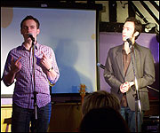 Doggett and Ephgrave at Mostly Comedy