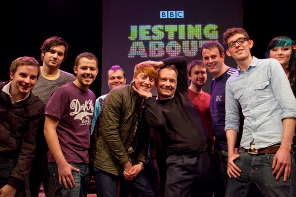 Bob Mortimer at the Jesting About launch