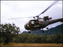 helicóptero da Rodésia