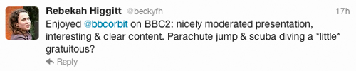 comment from @bbcorbit twitter
