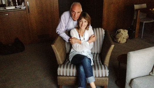 Francine Stock and Terence Stamp