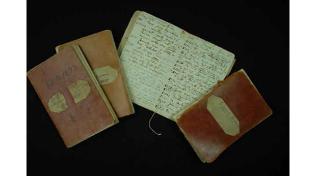 The four dry specimen catalogues that Charles Darwin used aboard HMS Beagle.