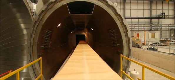 GKN's giant Autoclave cooks the wing spars at 180 degrees