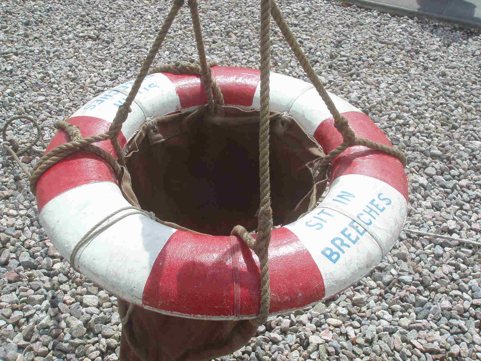 Breeches buoy - rescue apparatus of yester-year