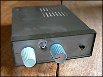 Old minicab receiver used to listen into space
