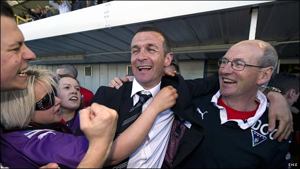 Jim McIntyre (centre) follows in the footsteps of some very successful Dunfermline bosses