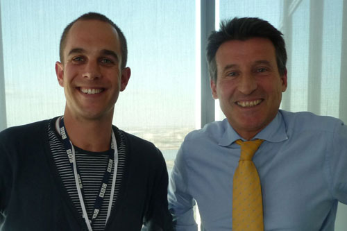 Director Francis Welch with Seb Coe