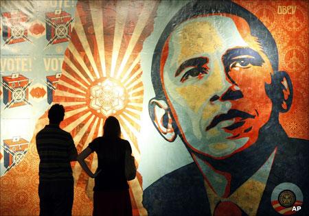 BBC - Gomp/arts: Obama 'Hope' artist under attack