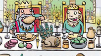 Image of a medieval feast