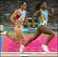 Tonique Williams winning Olympic gold in Athens