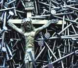 Crucifix surrounded by nails; photo by Mauro Simonato