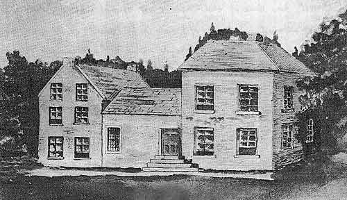Old Maguire house at Tempo, Co. Fermanagh,  1853 - demolished in about 1863 and replaced by present structure