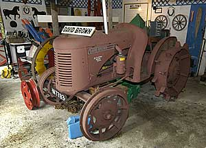Very few of these were produced... a David Brown Tractor from WWII era, finished in soil coloured paint for camouflage
