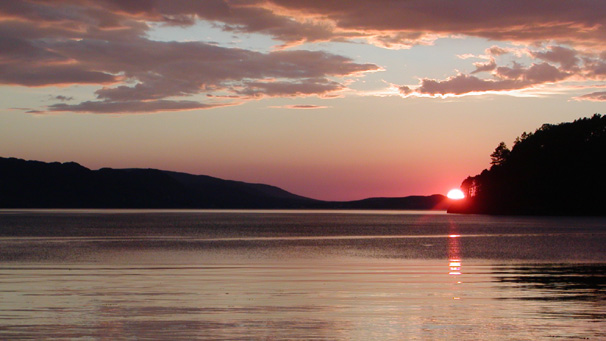 Dave Marley from  London caught this sunset at Loch Ewe and says that, despite the midges being out in force, there were about 30 people standing by the roadside just watching the sun go down.