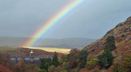 Another rainbow taken by Jeff Hayward at Graig Coch Dam in the Elan Valley