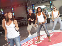 Liberty X at Party in the Park 2005