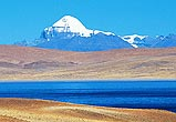 Photo of Mt Kailash. This is the most sacred mountain in Tibet, by which one must pass to reach the ancient Gu-ge Kingdom