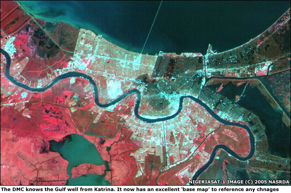 DMC image of New Orleans after Katrina