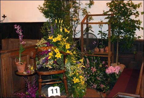 Flower festival at St Chad's in Montford