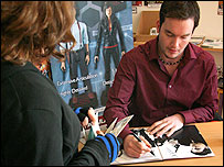 Gareth David-Lloyd signs for another lucky Torchwood fan