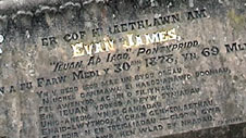 Memorial to Evan and James James, in Ynysangharad Park, Pontypridd