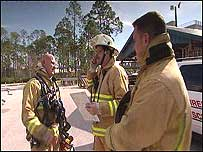 Simon with Lt Bill Henry of Volusia Fire Service