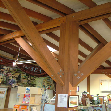 The timber framework is from British larch wood