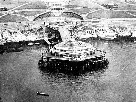 Plymouth Pier before it was bombed