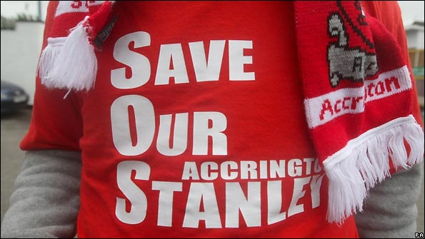 Accrington supporters are determined to save their club.
